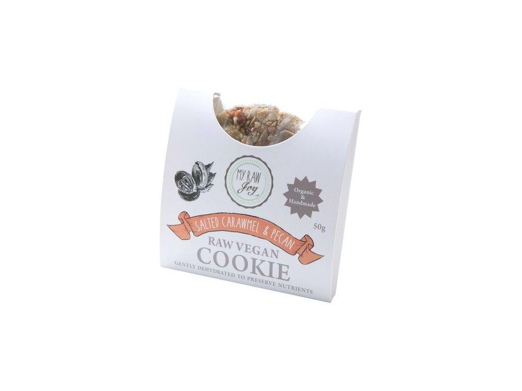 Raw sušenka se slaným karamelem a pekany, Bio