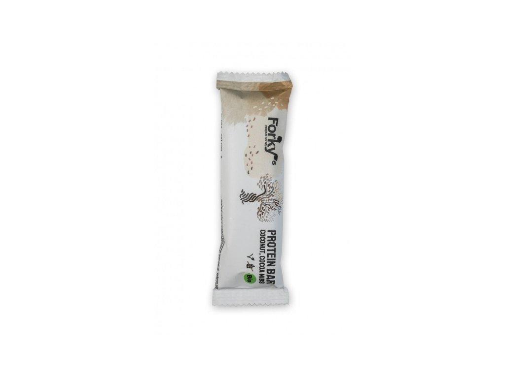 Forky's proteinová tyčinka kokos-kakaové boby, Bio
