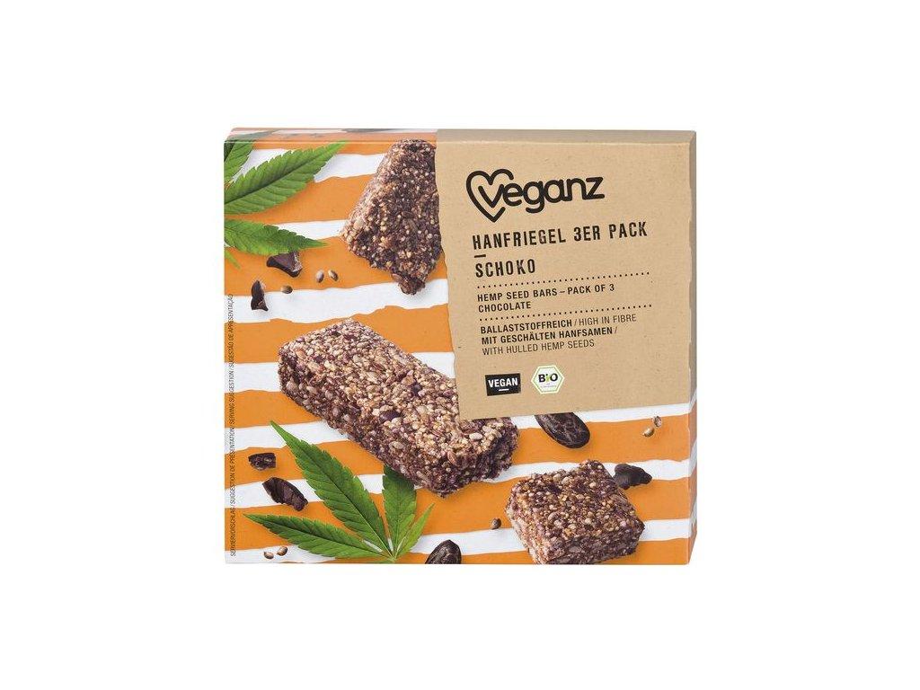 veganz konopna tycinka s cokoladou 3baleni bio