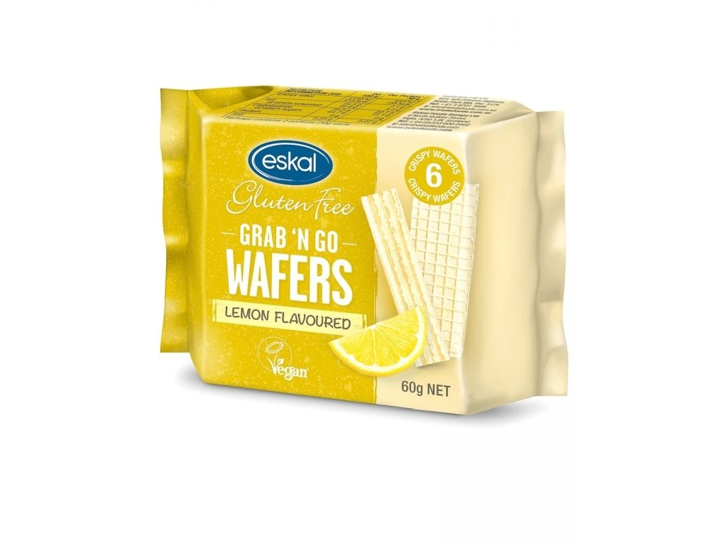 eskal bezlepkove vafle s citronovou prichuti