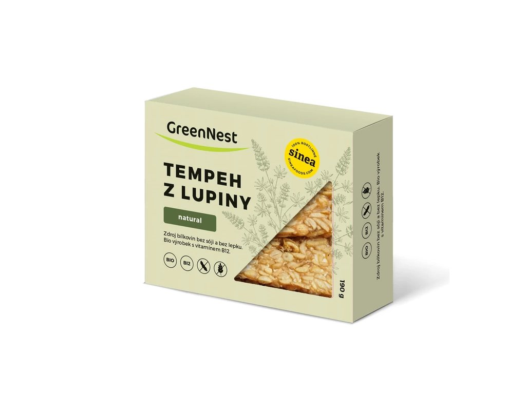 greennest tempeh z lupiny natural bio