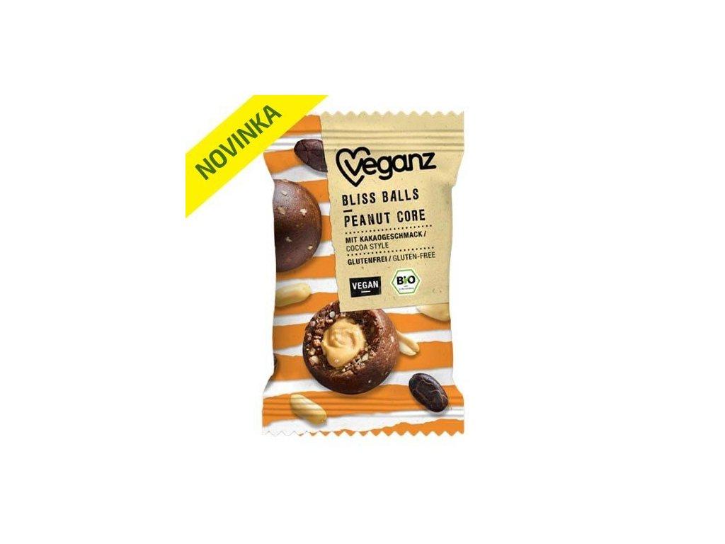 veganz kakaova kulicka plnena arasidovym maslem bio