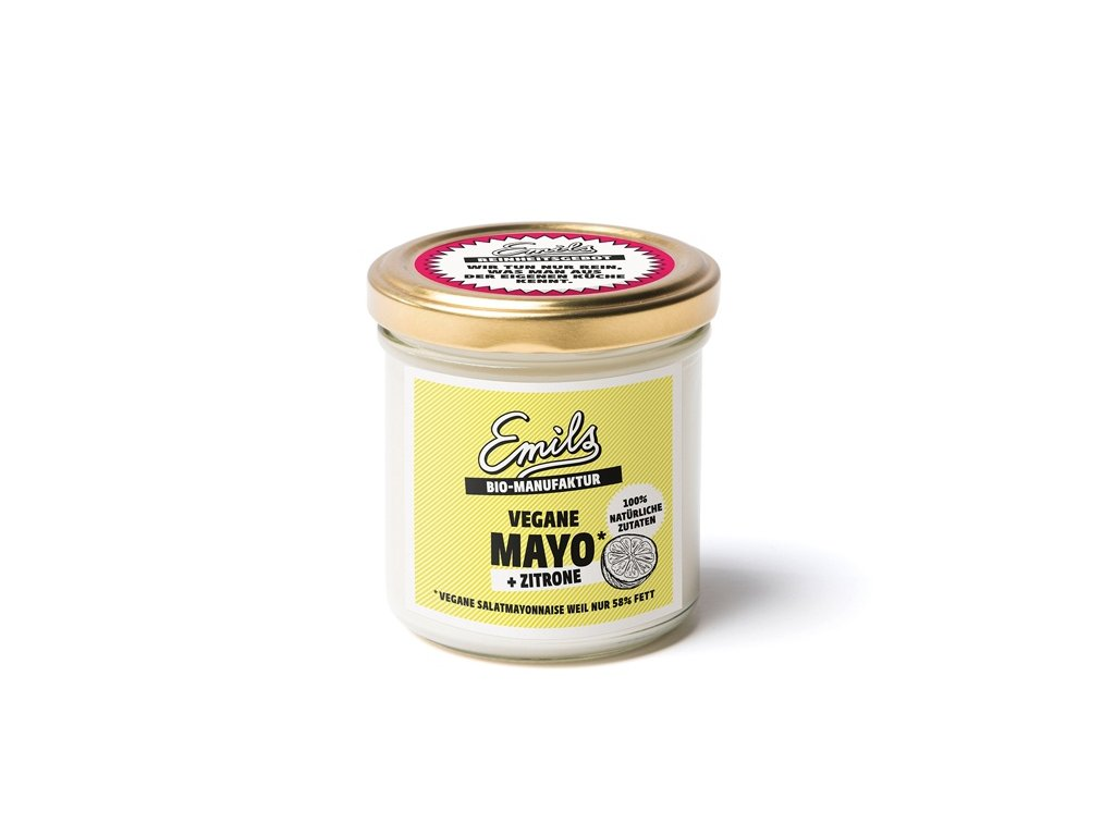 Veganská citrónová majonéza, Bio