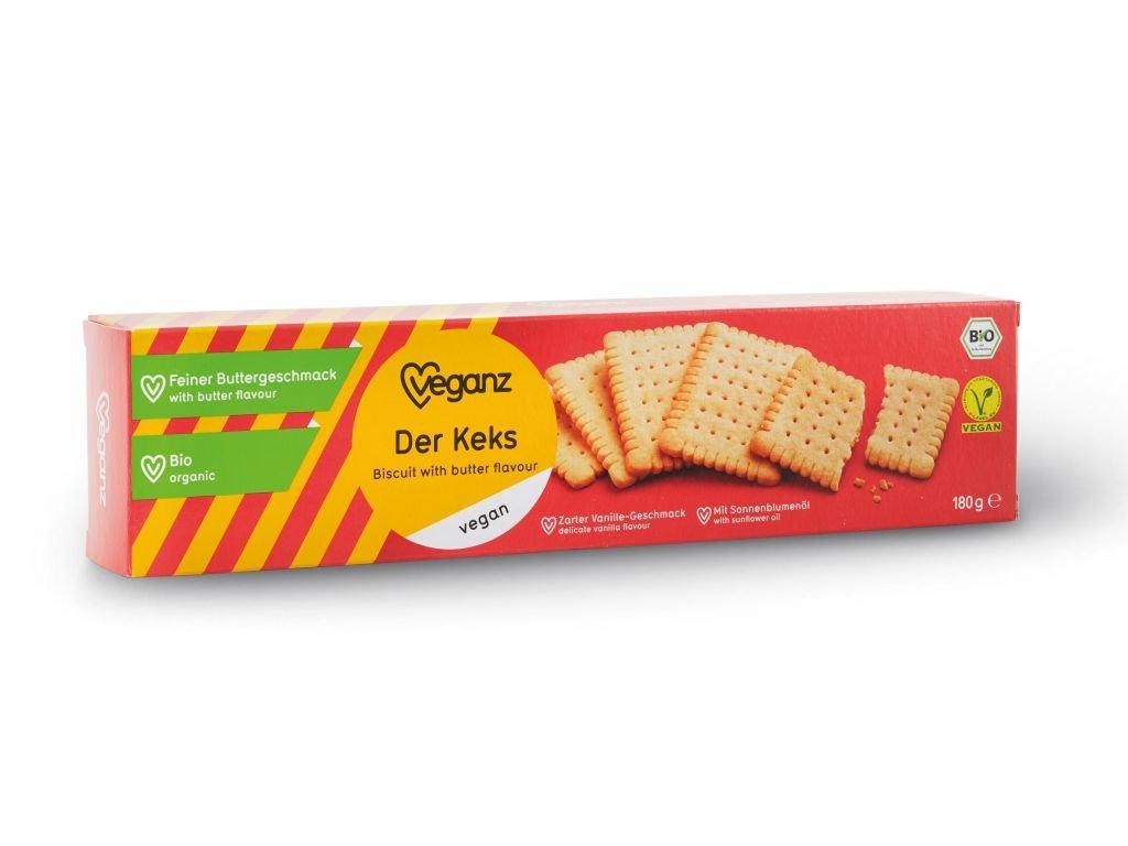 Veganz keksy s máslovou příchutí, Bio