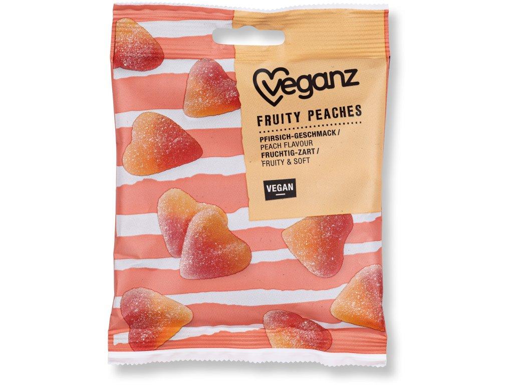 Veganz broskvová gumová srdíčka