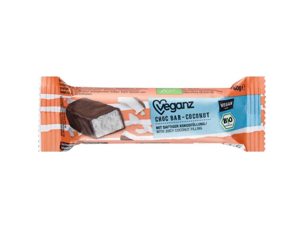 veganz cokoladova tycinka s kokosem bio