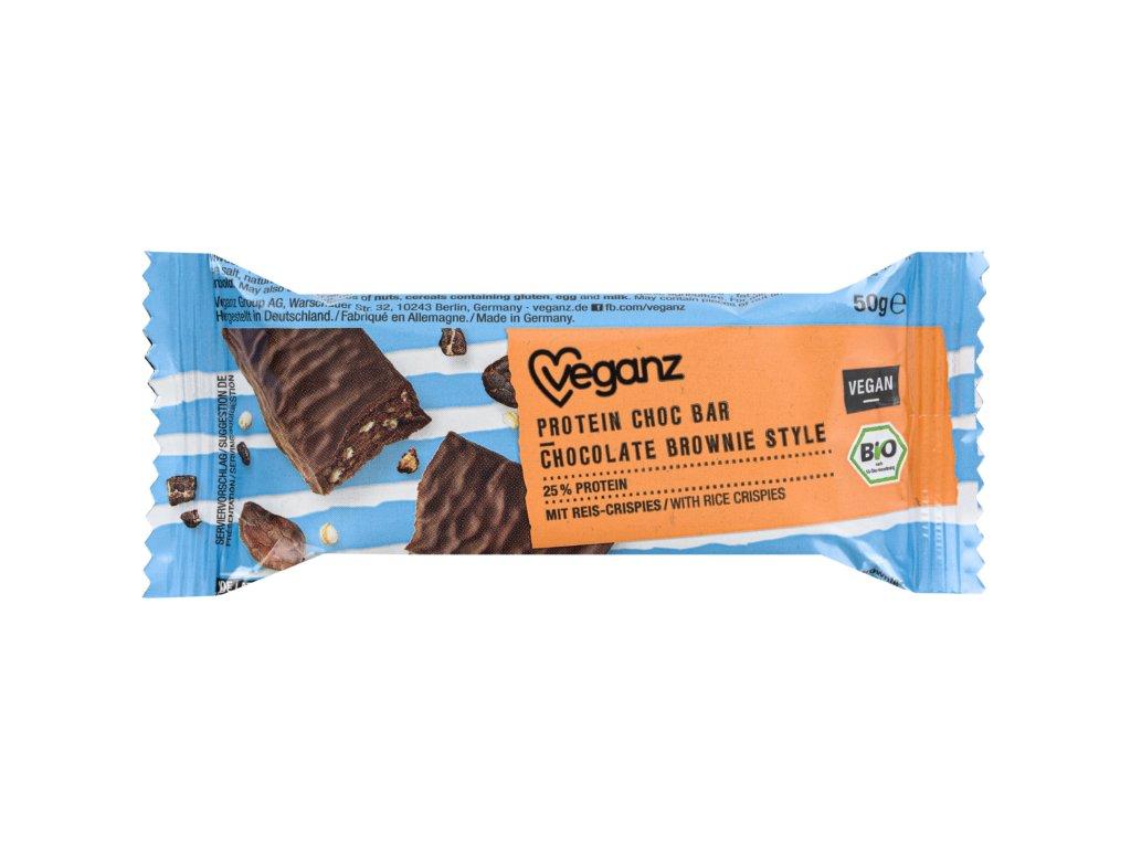 veganz proteinova tycinka brownie