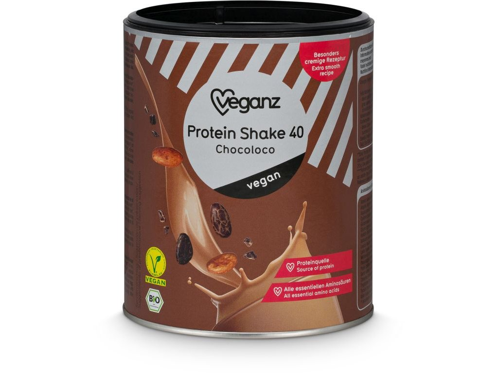 Veganz proteinový shake 40 - chocoloco, Bio