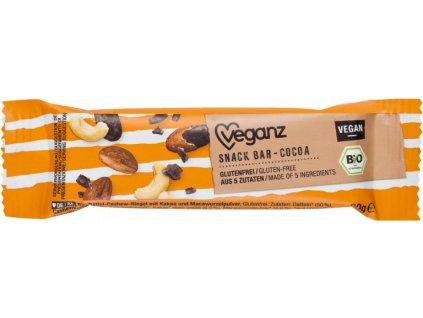 veganz kakaovy snack bar bio