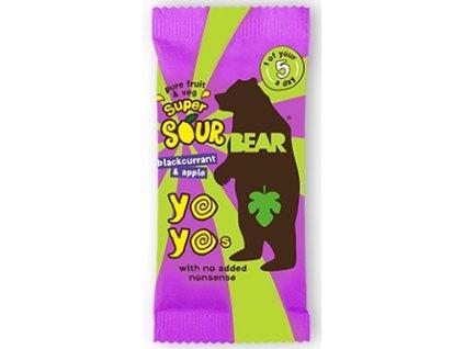 YO YO Bear kyselý černý rybíz