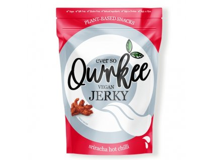 Qwrkee vegan jerky sriracha hot chilli