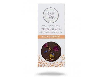 my raw joy raw cokolada s jedlymi kvety bio