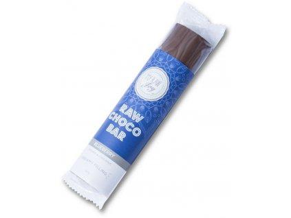 Raw čokoládová tyčinka s borůvkovou náplní, Bio