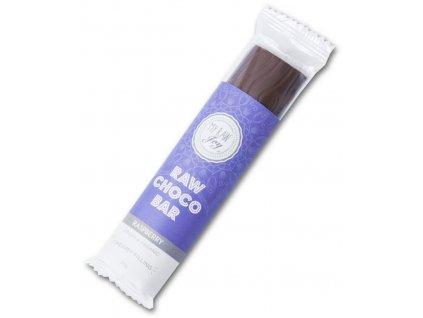 Čokoládová raw tyčinka s malinovou náplní, Bio