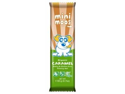 Mini moos karamelová čokoláda, Bio