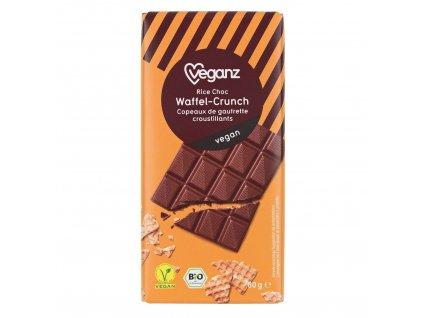 Veganz čokoláda s křupavými vaflemi, Bio- Výprodej