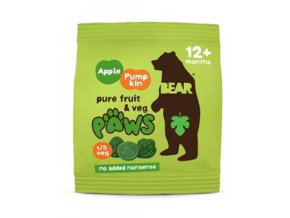 bear tlapky s jablkem a dyni