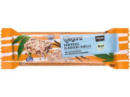 veganz konopna tycinka s boruvkami a vanilkou bio