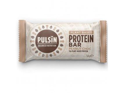 pulsin protein bar s arasidy a kousky cokolady