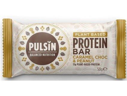 pulsin protein bar karamel s cokoladou a arasidy