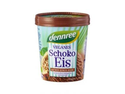 Dennree veganská čokoládová zmrzlina, Bio
