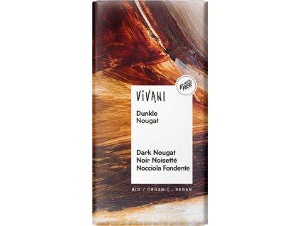 vivani tmava nugatova cokolada bio