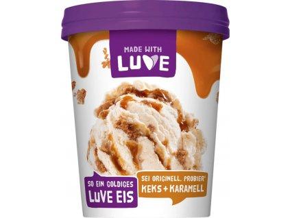 Lupinová zmrzlina sušenky a karamel
