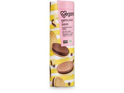 Veganz dvojité sušenky s kakaovou náplní, Bio