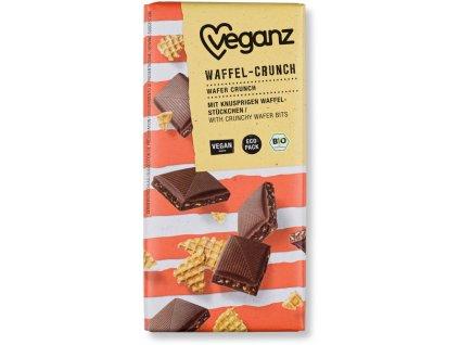 Veganz čokoláda s křupavými vaflemi, Bio