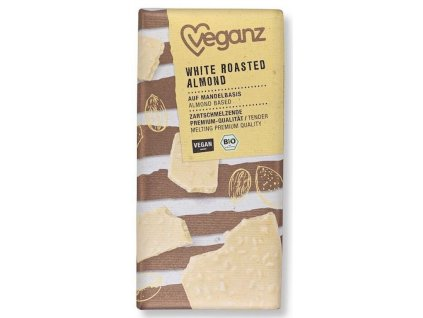 veganz bila cokola s prazenymi mandlemi bio