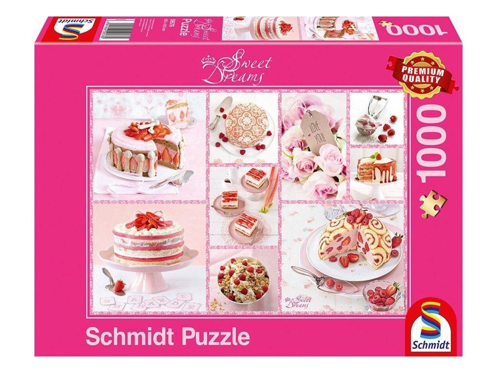 SCHMIDT Puzzle Sweet Dreams: Růžové pokušení 1000 dílků