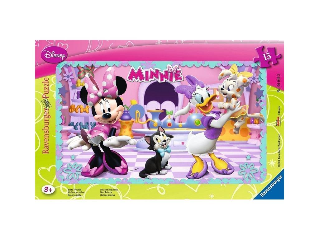 RAVENSBURGER Puzzle Minnie: Nejlepší přátelé 15 dílků