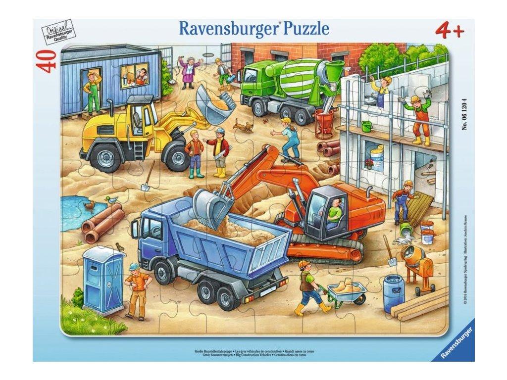 RAVENSBURGER Puzzle Velká stavební auta 40 dílků
