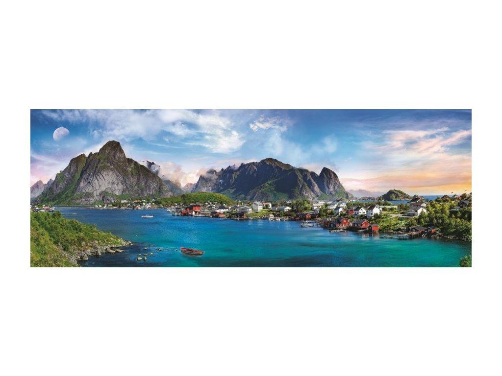 TREFL Panoramatické puzzle Lofoty, Norsko 500 dílků