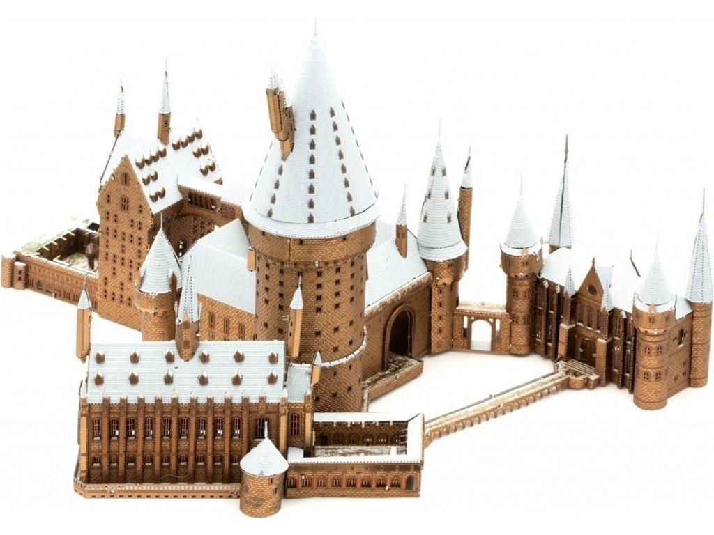 METAL EARTH 3D puzzle Harry Potter: Zasněžený Bradavický hrad (ICONX)