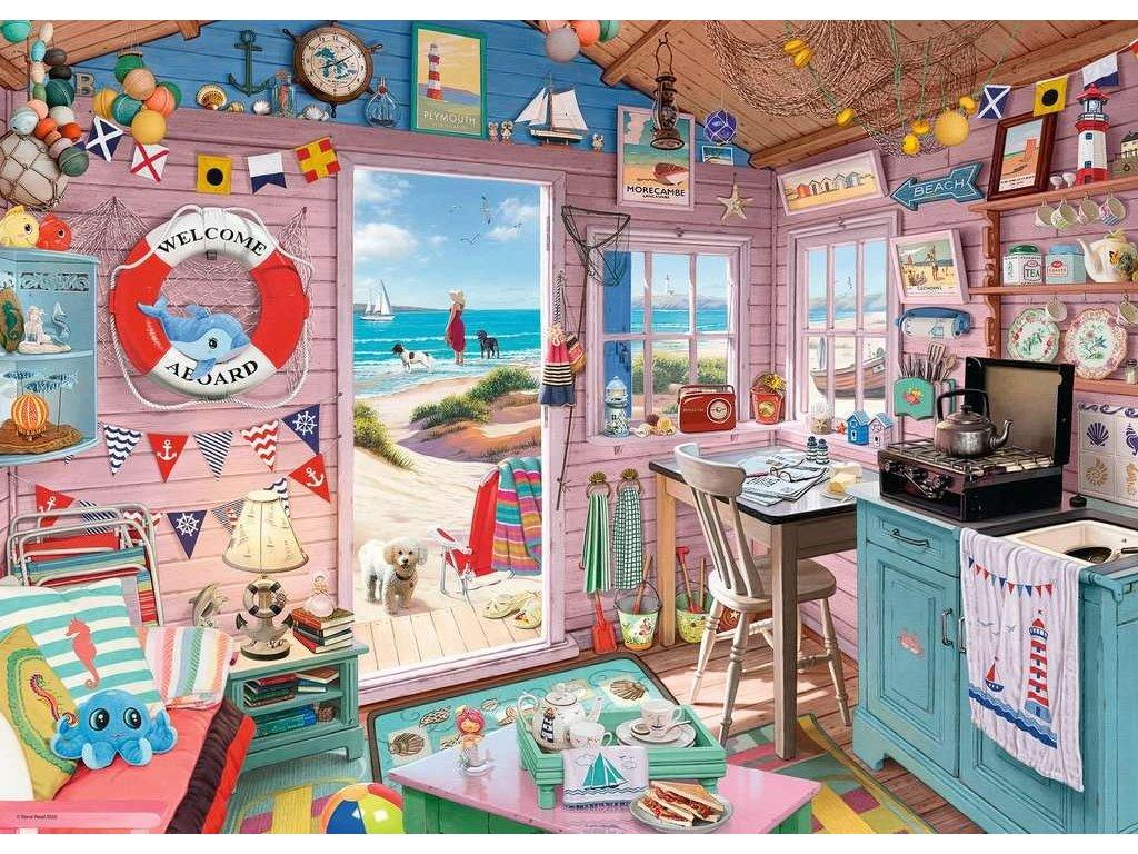 RAVENSBURGER Puzzle Plážový domek 1000 dílků