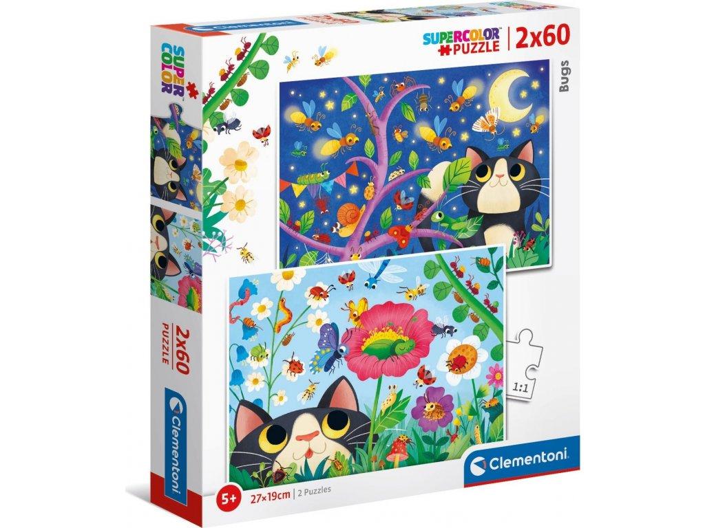 CLEMENTONI Puzzle Broučci 2x60 dílků