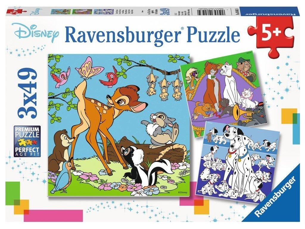 RAVENSBURGER Puzzle Disney přátelé 3x49 dílků
