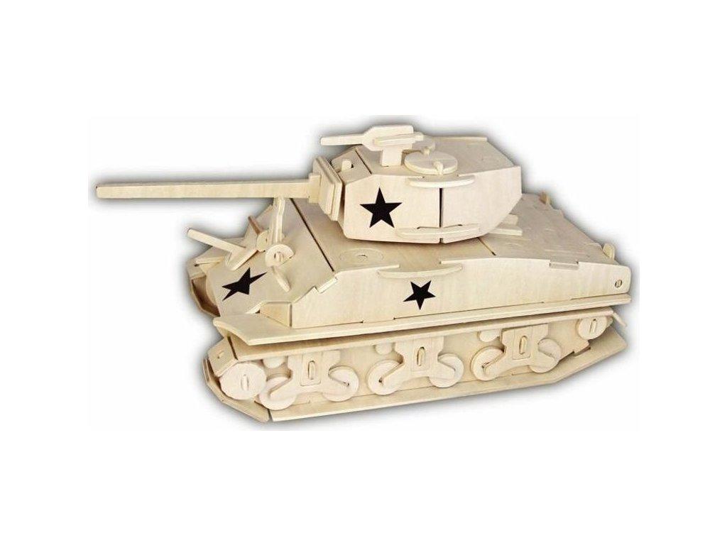 WOODEN TOY , WCK 3D puzzle Tank M4 Sherman Fury