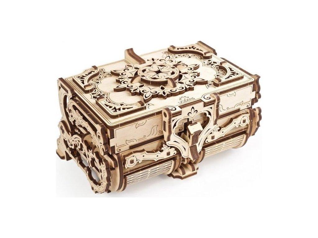 UGEARS 3D puzzle Antická šperkovnice 185 dílků