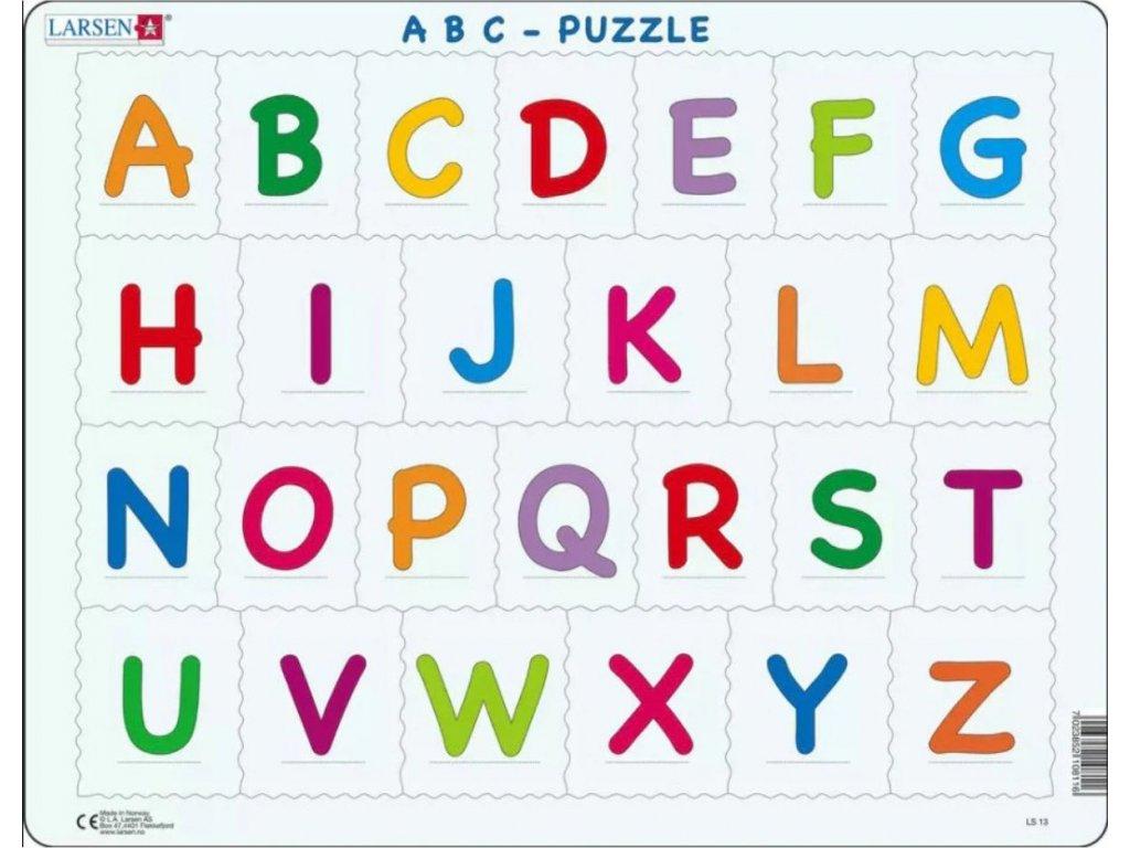LARSEN Puzzle Abeceda - velká písmenka 27 dílků