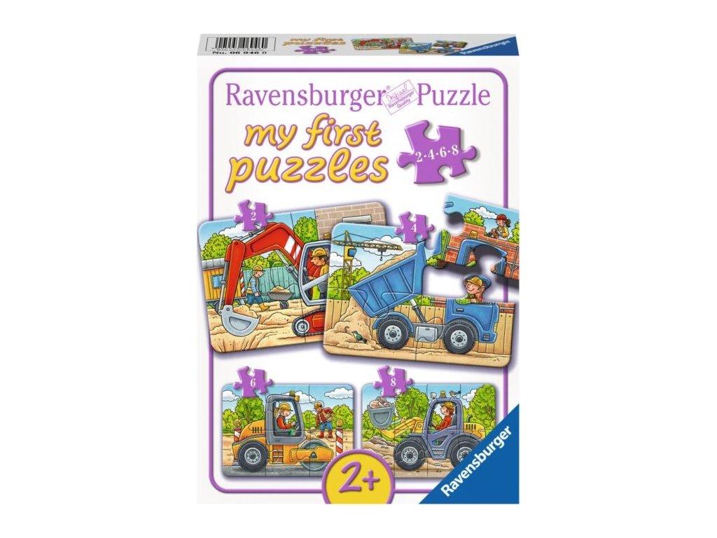 RAVENSBURGER Moje první puzzle Stavební stroje 4v1 (2,4,6,8 dílků)