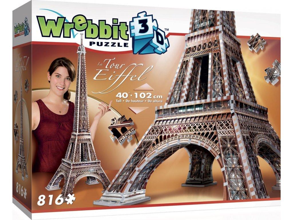 WREBBIT 3D puzzle Eiffelova věž 816 dílků