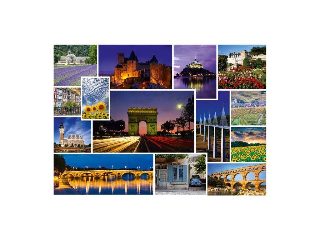 SCHMIDT Puzzle Výlet do Francie 1000 dílků