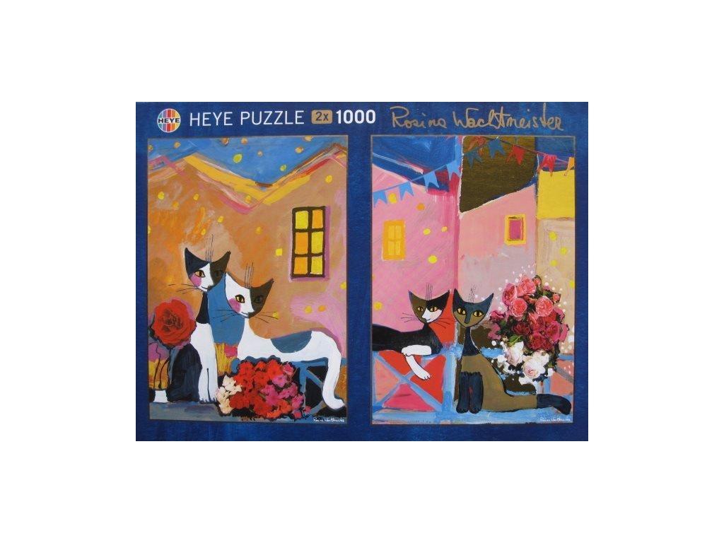 HEYE Metalické puzzle Kytice a Kytičky 2x1000 dílků