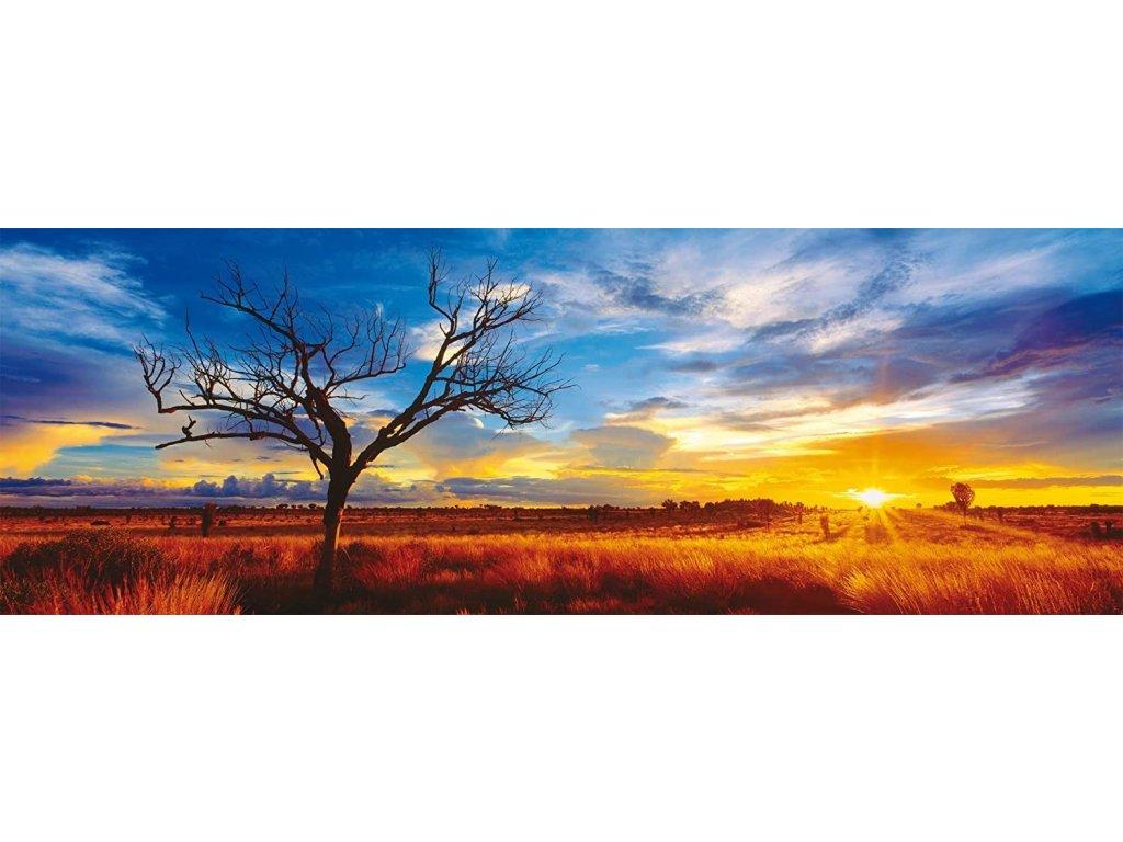 SCHMIDT Panoramatické puzzle Dub při západu slunce 1000 dílků