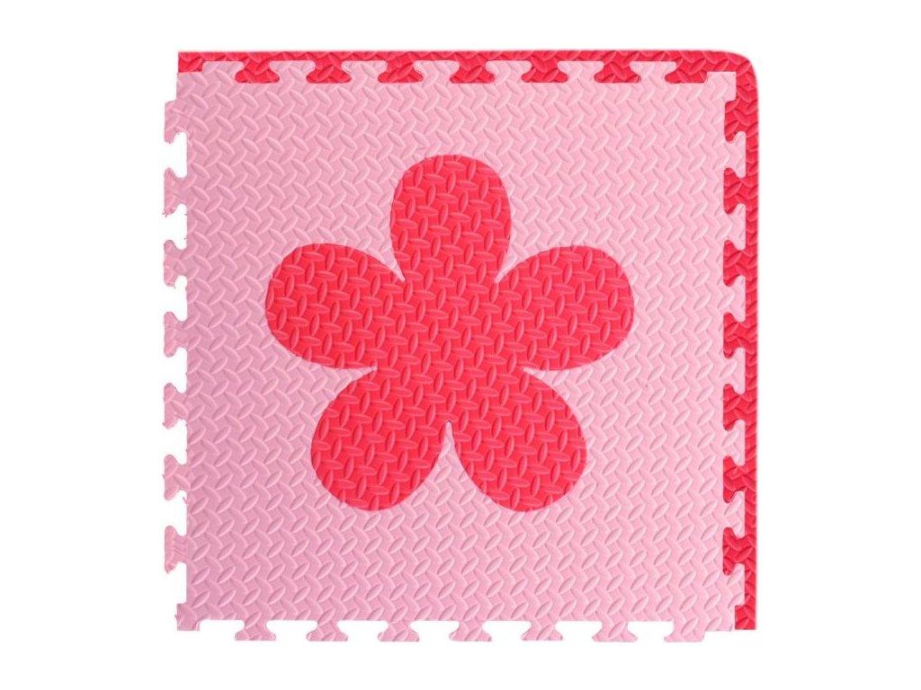 Pěnový BABY koberec - růžová,červená 1 díl