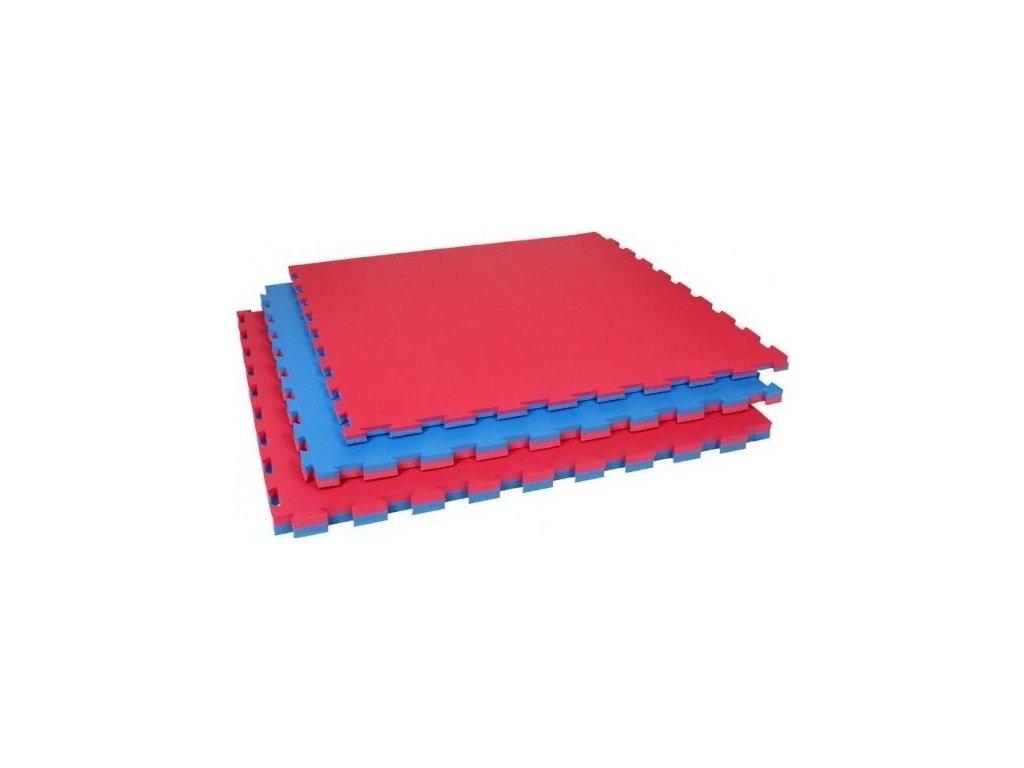 Pěnový koberec - modrá,červená 100x100x4cm