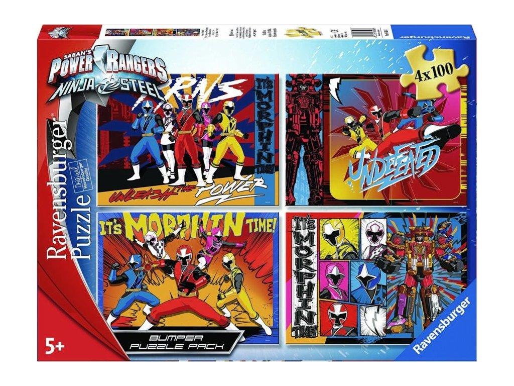 RAVENSBURGER Puzzle Power Rangers 4x100 dílků