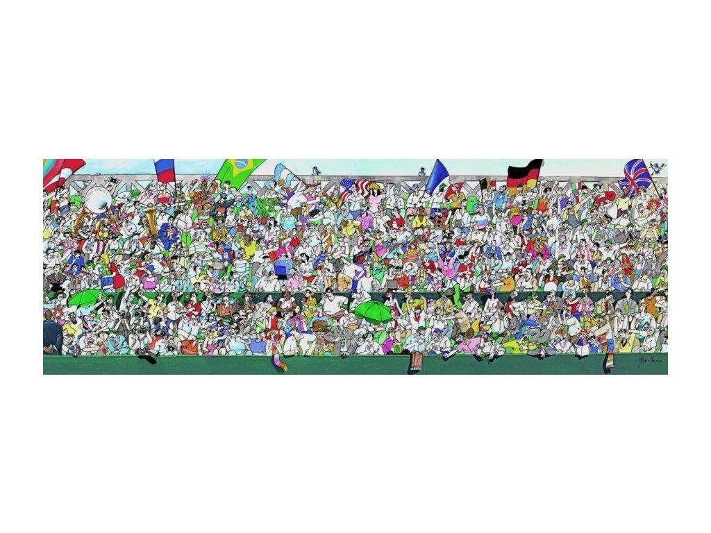 HEYE Panoramatické puzzle Sportovní fanoušci 1000 dílků